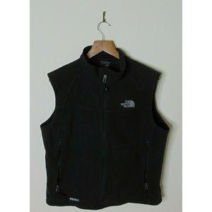 North Face L Full Zip Windwall Fleece Vest Black